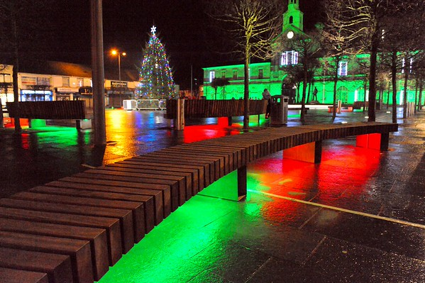 Newtownards Town Square, Friday, 18th December 2015.